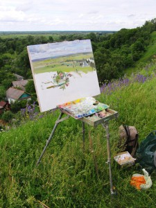 Plein Air Painting in Italy